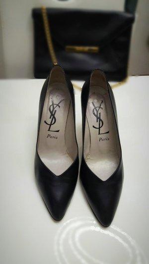 Original Yves Saint Laurent Elegante Pumps Gr. 39 schwarz.