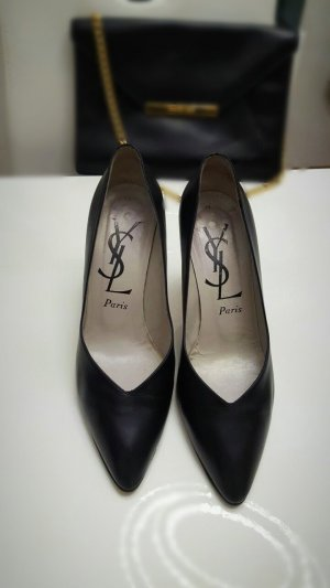Original Yves Saint Laurent Elegante Pumps Gr. 39 schwarz.