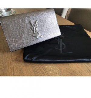 Original Yves Saint Laurent Tasche Clutch Bronze Silver YSL bag fast neu