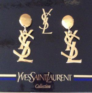Original Yves Saint Laurent YSL Vintage Sex in the City Samantha Ohrclips