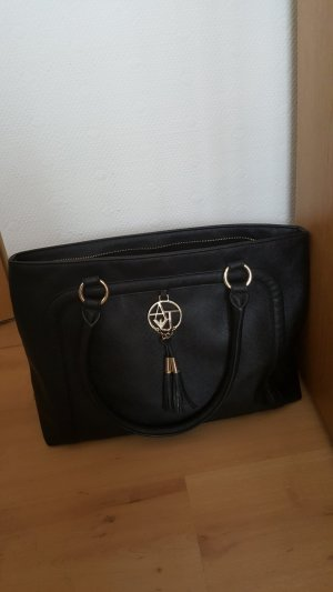 Armani Carry Bag black leather