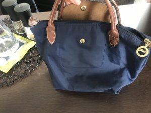 Originale blaue Longchamp Henkeltasche