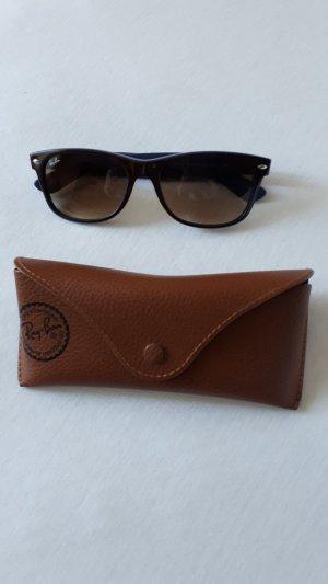 Originale Braunblaue Ray Ban Sonnenbrille