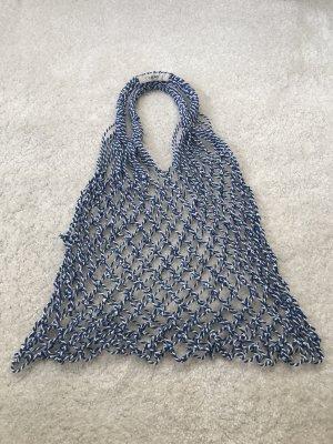 Celine Shopping Bag white-steel blue