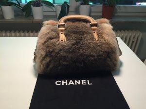 Originale Chanel Handtasche aus Leder und Kaninchenfell