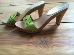 Dolce & Gabbana High-Heeled Sandals meadow green leather