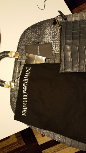 originale Emporio Armani Tasche aus Kalbleder Krokodillook