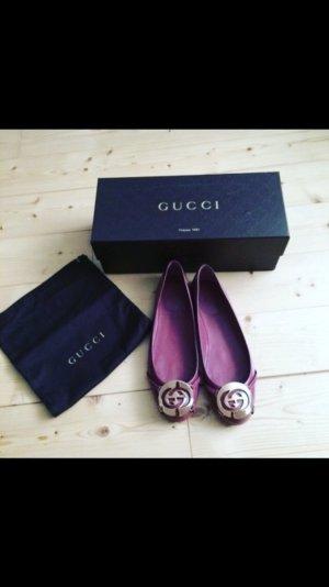 Originale Gucci Ballerinas mit goldener Schnalle