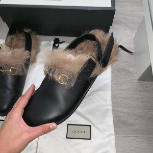 Gucci Ciabatta aperta nero-oro