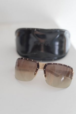 Gucci Gafas Retro blanco-marrón claro