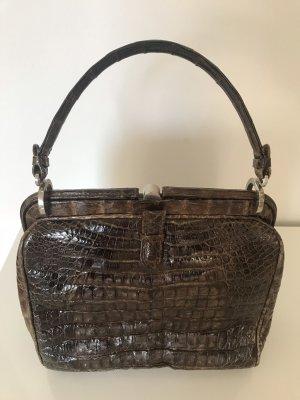 Originale, hochwertige Goldpfeil Vintage Krokodilleder Handtasche!
