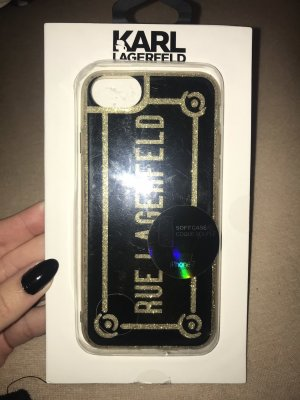 Karl Lagerfeld Mobile Phone Case black-gold-colored