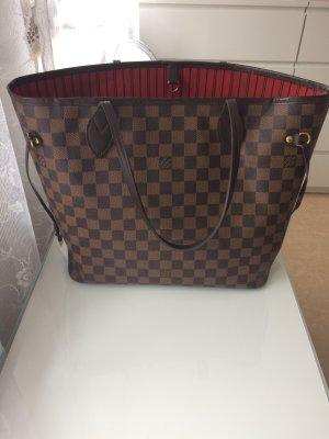 Louis Vuitton Bolsa de hombro taupe Imitación de cuero