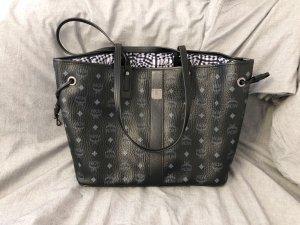 Originale Mcm Handtasche Shopper Liz Wendetasche schwarz mit Clutch