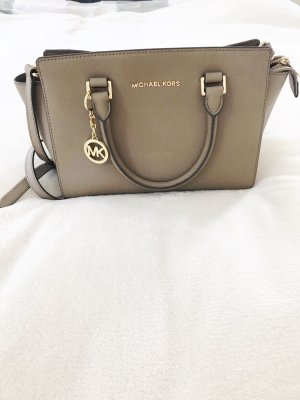 Michael Kors Handbag grey brown-gold-colored