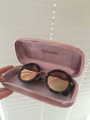 Originale Miu Miu Sonnenbrille braun matt Gold