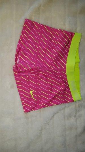 Nike Sport Shorts neon yellow-pink