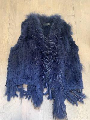 Oakwood Smanicato di pelliccia blu scuro