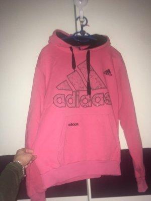 Adidas Jersey con capucha rosa-negro Algodón