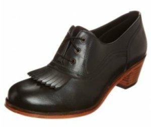 Lage schoenen zwart Leer