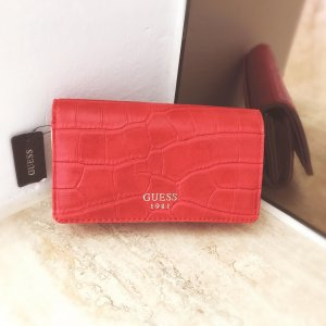Guess Accessory brick red-beige leather