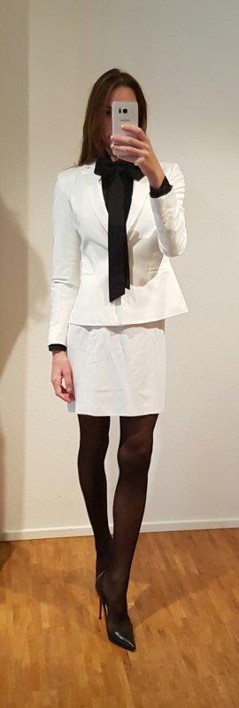 Chanel Falda de talle alto color oro-blanco puro