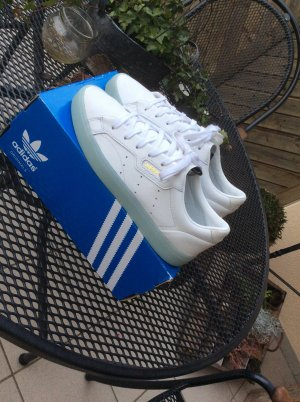 Adidas Originals Lace-Up Sneaker white-turquoise