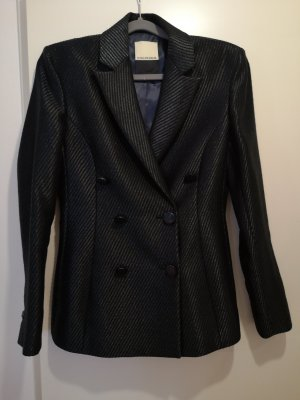 by Malene Birger Wool Blazer dark green-black mixture fibre