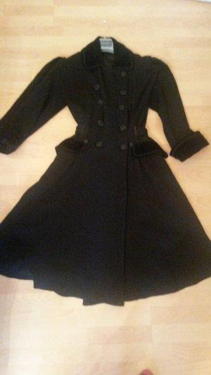 Origineller schwarzer Mantel, Gr.42 Madame Zaza