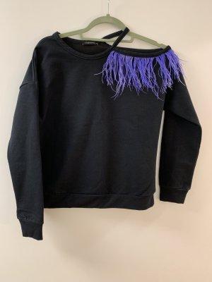 Jersey de cuello redondo negro
