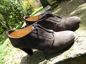 Lloyd Escarpins à lacets gris brun-noir daim