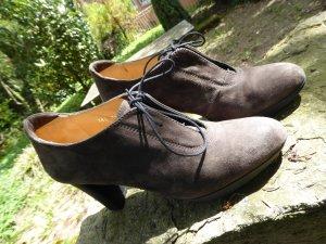 Lloyd Lace-up Pumps grey brown-black suede