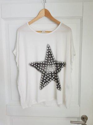 Vila Oversized Shirt white-black