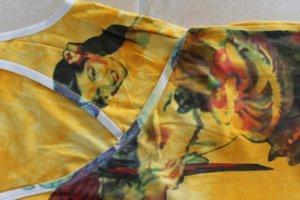 originelles Wickel Shirt Papagei Frau Motiv zum Binden