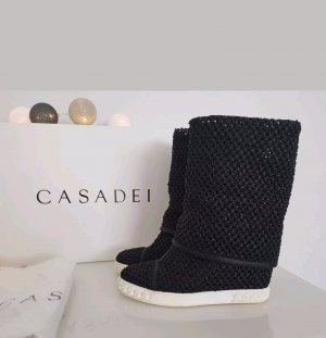 Casadei Platform Boots black brown