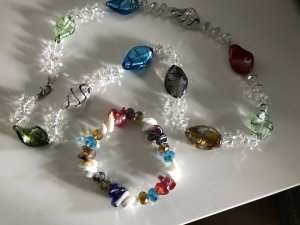 Murano Pearl Necklace multicolored