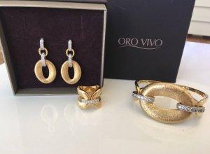 Oro Vivo Schmuck Set vergoldet mit 18k