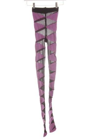 Oroblu Scaldamuscoli rosa-nero motivo astratto stile stravagante