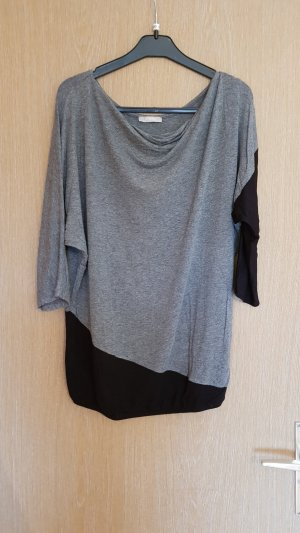 Orsay Top col bénitier noir-gris foncé