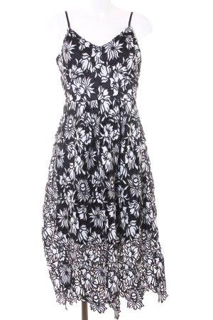 Orsay Abendkleid weiß-schwarz Blumenmuster Elegant