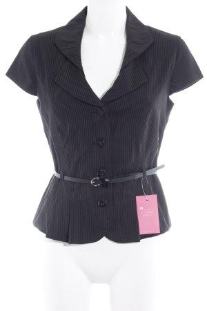 Orsay Waistcoat black-white pinstripe business style