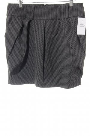 Orsay Ballonrok zwart-donkergrijs geruite print straat-mode uitstraling