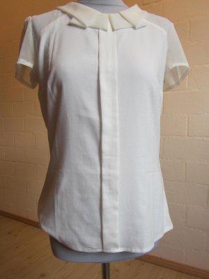 ORSAY: Bluse wollweiß mit transparenten Details, Gr. 38