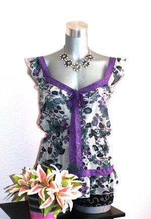 Orsay Blusen Shirt gr. 38/40 Transparent Look Volant