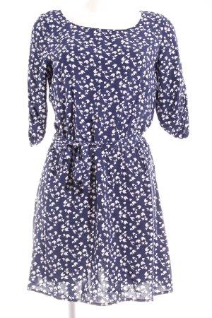 Orsay Abito blusa blu scuro-bianco stampa integrale stile casual