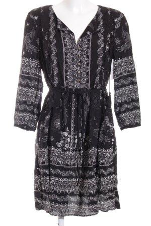 Orsay Blusenkleid schwarz-weiß abstraktes Muster Urban-Look