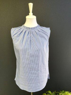 ORSAY Blusentop, mit Rüschenkragen, Hellblau-Weiß gestreift (40)