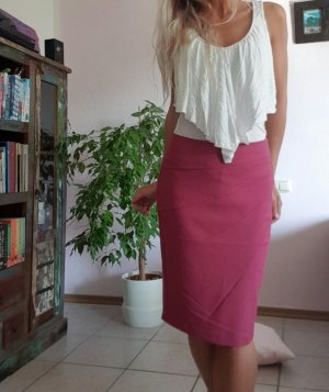 4969aa5b35fb Orsay Business Rock Gr. S/36 knielang Himbeere Rot Pink Weinrot High Waist