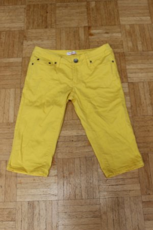 Orsay 3/4 Length Jeans yellow cotton