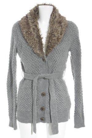 Orsay Cardigan grau Lochstrickmuster schlichter Stil